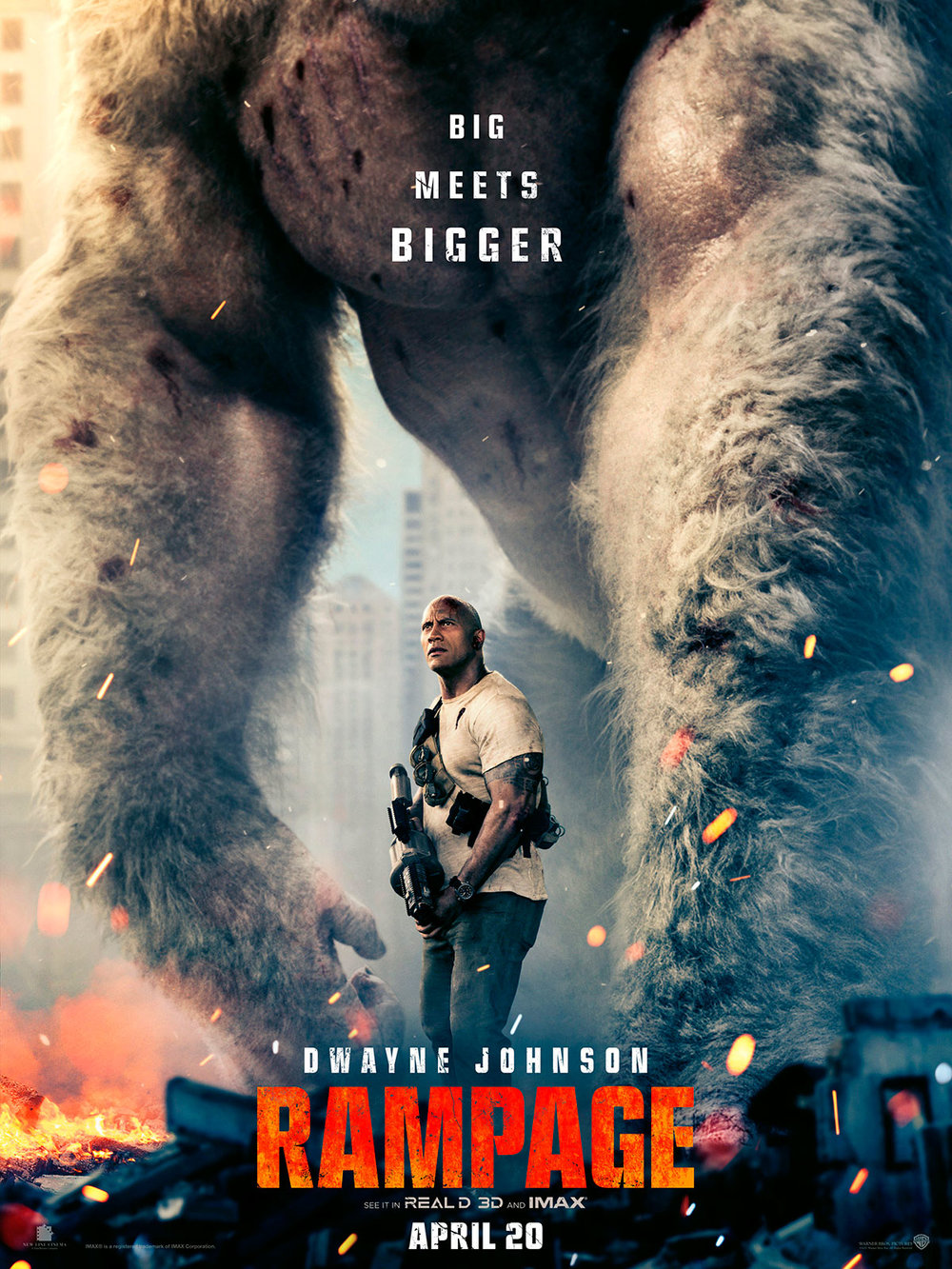 Rampage (2018) - Directed by: Brad PeytonStarring: Dwayne Johnson, Naomie Harries, Malin Akerman, Jeffrey Dean MorganRated: PG-13 for Sequences of Violence, Action and Destruction, Brief Language, and Crude GesturesRunning Time: 1 h 47 mTMM Score: 1.5 stars out of 5STRENGTHS: Visual EffectsWEAKNESSES: Writing, Directing, Characters