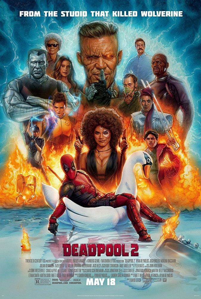 Deadpool 2 (2018) - Directed by: David LeitchStarring: Ryan Reynolds, Josh Brolin, Zazie Beetz, Julian DennisonRated: R for Strong Violence and Language Throughout, Sexual References and Brief Drug MaterialRunning Time: 1 h 59 mTMM Score: 2.5 stars out of 5STRENGTHS: Some Special Effects, PacingWEAKNESSES: Some Special Effects, Writing, Characters