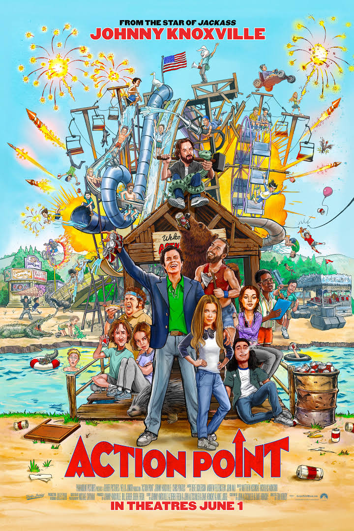 Action Point (2018) - Directed by: Tim KirkbyStarring: Johnny Knoxville, Eleanor Worthington-Cox, Chris PontiusRated: R for Crude Sexual Content, Language, Drug Use, Teen Drinking, and Brief Graphic NudityRunning Time: 1 h 25 mTMM Score: 1 stars out of 5STRENGTHS: Real Stunts, Eleanor Worthington-CoxWEAKNESSES: Everything Else