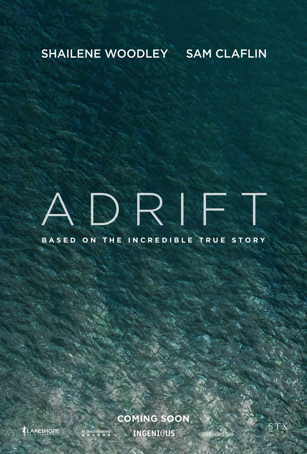 Adrift (2018) - Directed by: Baltasar KormakurStarring: Shailene WoodleyRated:PG-13Running Time: 1h 36mTMM Score:1 star out of 5STRENGTHS: NoneWEAKNESSES: Acting, Editing, Pacing, Predictability, Writing