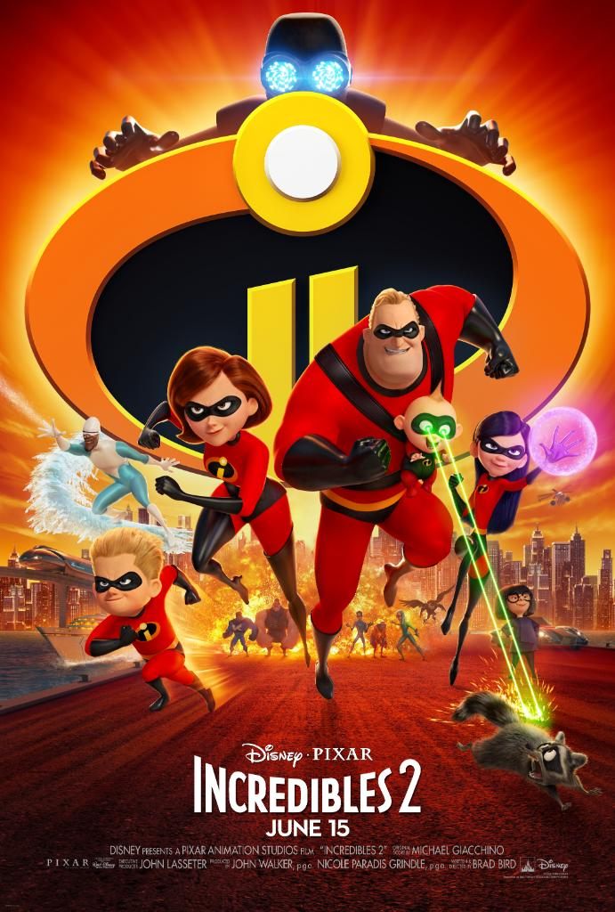 Incredibles 2 (2018) - Directed by: Brad BirdStarring: Craig T. Nelson, Holly Hunter, Bob Odenkirk, Catherine KeenerRated: PG for Action Sequences and Some Brief Mild LanguageRunning Time: 1 h 58 mTMM Score: 4 stars out of 5STRENGTHS: Pacing, Animation, Style, MessagesWEAKNESSES: Similarities to Original