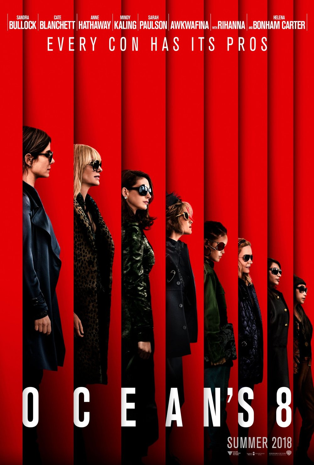 Ocean's 8 (2018) - Directed by: Gary RossStarring: Sandra Bullock, Cate Blanchett, Anne HathawayRated: PG13Running Time: 1h 50mTMM Score: 2 stars out of 5STRENGTHS: Star Power?WEAKNESSES: Boring, Character Development