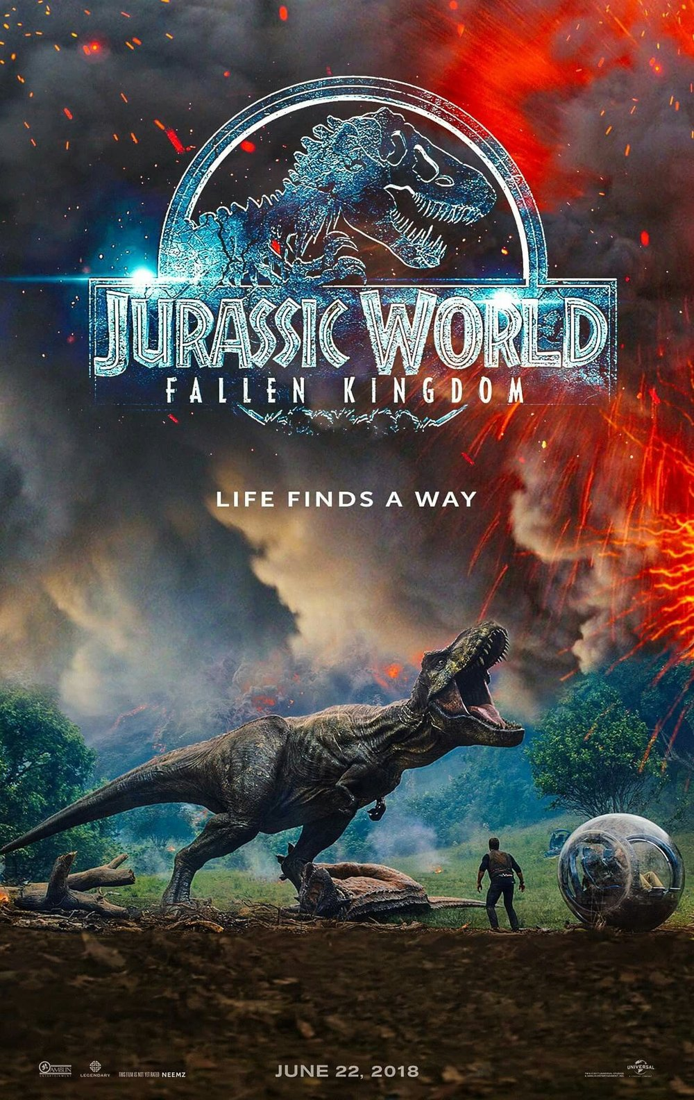 Jurassic World: Fallen Kingdom (2018) - Directed by: J. A. BayonaStarring: Chris Pratt, Bryce Dallas HowardRated: PG13Running Time: 2h 8mTMM Score: 2 stars out of 5STRENGTHS: It is a movie.WEAKNESSES: The emptiness inside when you leave the theater.