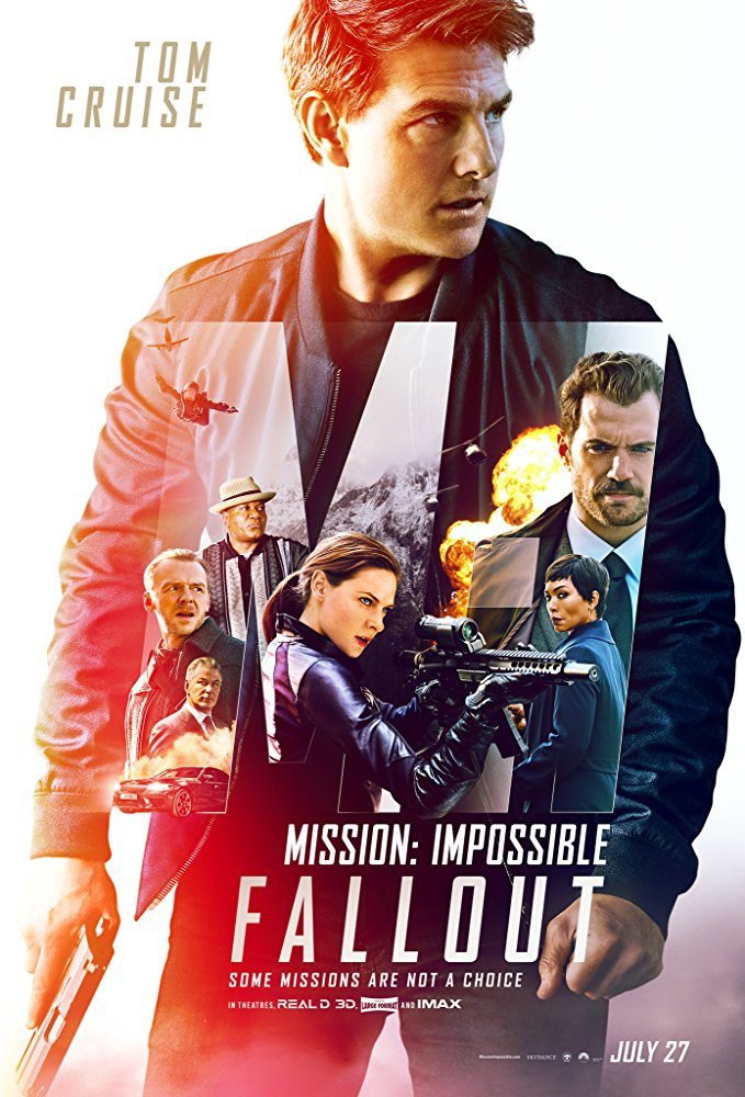 Mission: Impossible Fallout(2018) - Directed by: Christopher McQuarrieStarring: Tom Cruise, Henry Cavil, Ving Rhames, Simon Pegg, Rebecca Ferguson, Sean Harris, Angela Bassett, Michelle Monaghan, Wes Bently, Alec BaldwinRated: PG-13 for Violence and Intense Sequences of Action, and For Brief Strong LanguageRunning Time: 2 h 27 mTMM Score: 4 stars out of 5STRENGTHS: Action, Writing, Memorable Villain, Higher StakesWEAKNESSES: Expositional Dialogue, Suspension of Disbelief Required