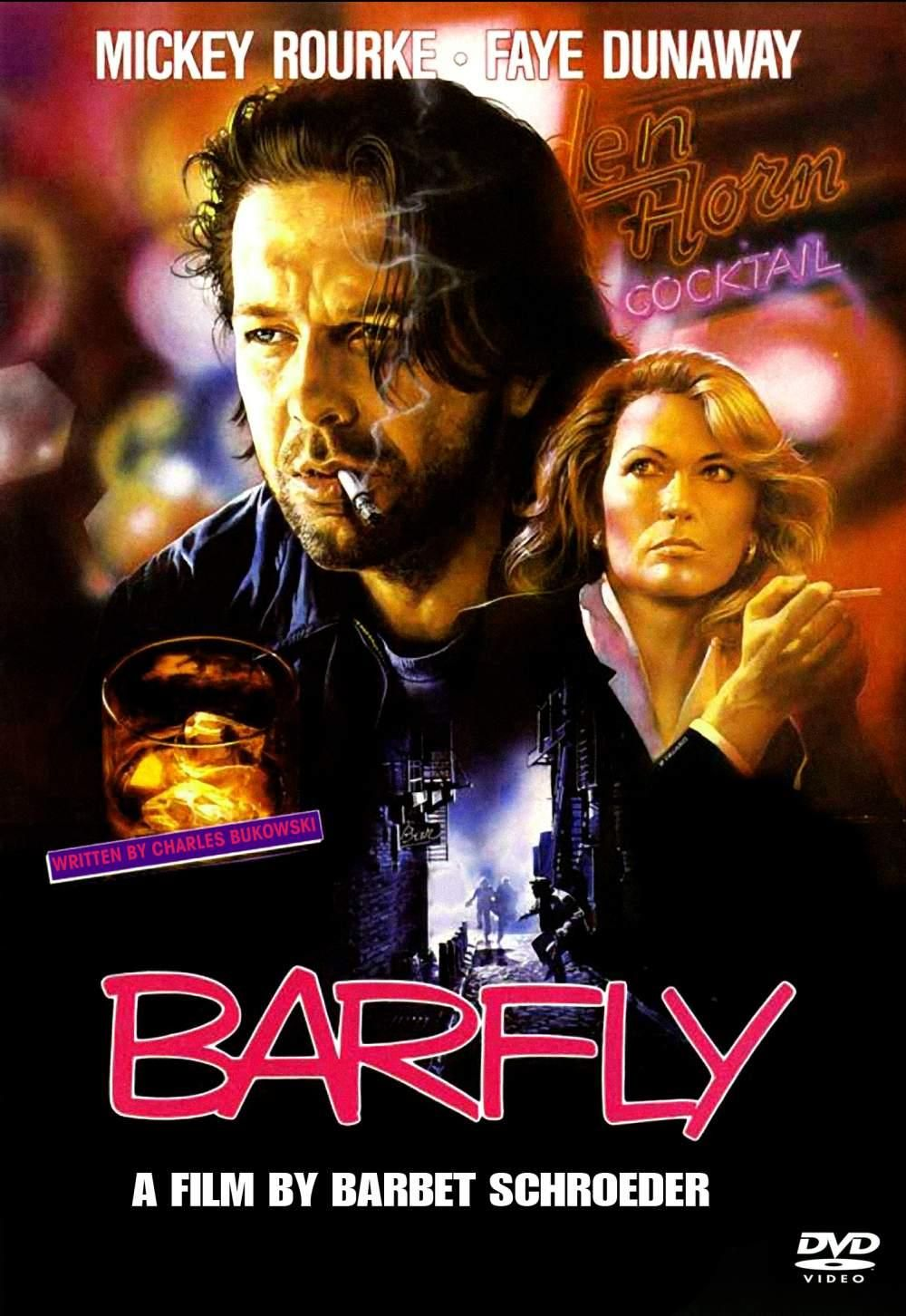 Barfly (1987) - Directed by: Barbet SchroederStarring: Mickey Rourke, Faye Dunaway, Alice KrigeRated: RRunning Time: 1 h 40 mTMM Score: 4 stars out of 5STRENGTHS: Writing, ActingWEAKNESSES: Subject Matter
