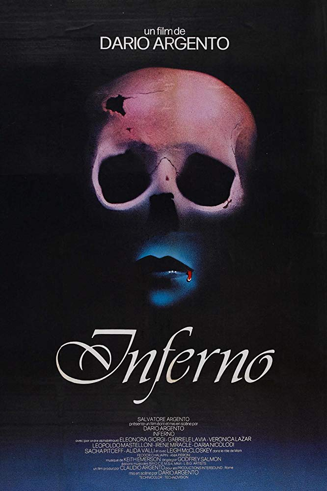 Inferno (1980) - Directed by: Dario ArgentoStarring: Leigh McCloskey, Irene Miracle, Eleonora GiorgiRated: RRunning Time: 1 h 47 mTMM Score: 3 stars out of 5STRENGTHS: Atmosphere, Aesthetic, DirectingWEAKNESSES: Melodramatic, Depiction of Animal Cruelty