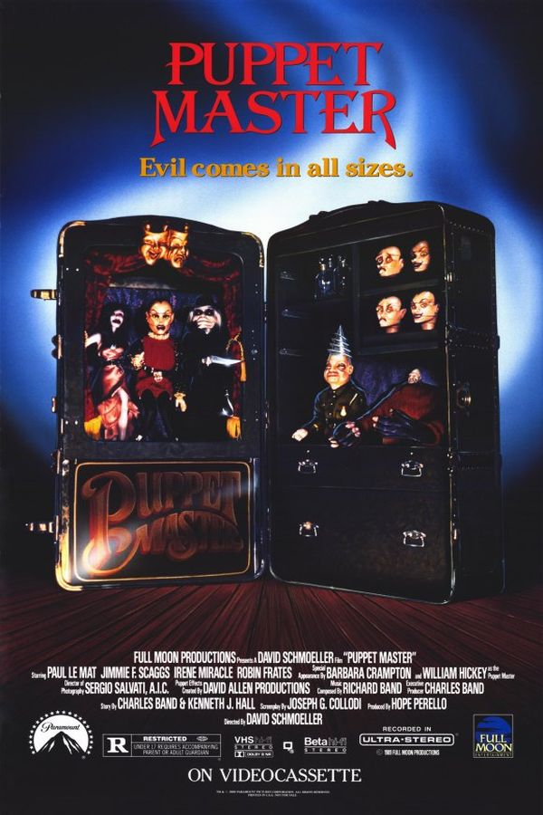 Puppet Master (1989) - Directed by: David SchmoellerStarring: Paul Le Mat, William Hickey, Irene MiracleRated: RRunning Time: 1 h 30 mTMM Score: 1.5 stars out of 5STRENGTHS: PuppetsWEAKNESSES: Literally Everything Else