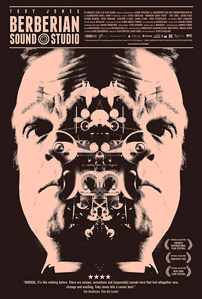 Berberian Sound Studio (2012) - Directed by: Peter StricklandStarring: Toby Jones, Antonio Mancino, Guido AdorniRated: NR (Suggested PG-13 for Some Disturbing Thematic Material)Running Time: 1 h 32 mTMM Score: 4 stars out of 5STRENGTHS: Cinematography, Sound Design, DirectingWEAKNESSES: Pacing, Artistic Nature Will Deter Normal Genre Fans