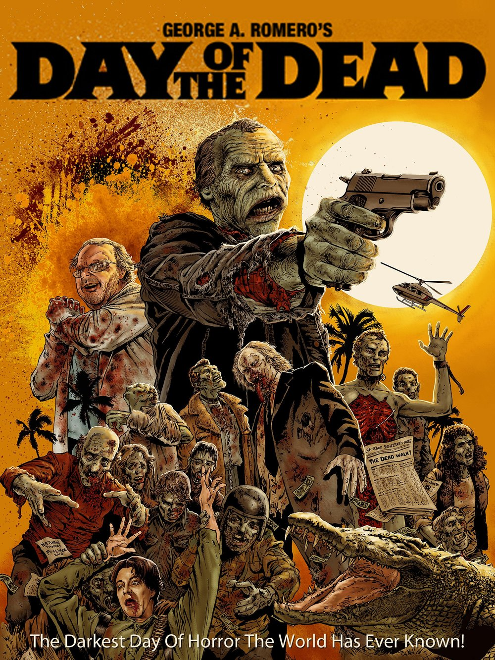 Day of the Dead (1985) - Directed by: George A RomeroStarring: Lori Cardille, Terry Alexander, Joseph PilatoRated: NR (Suggested R for Strong Brutal Graphic Violence and Pervasive Language)Running Time: 1 h 36 mTMM Score: 3.5 stars out of 5STRENGTHS: Effects, Story, Directing, Moral DilemmaWEAKNESSES: Acting, Some Dialogue