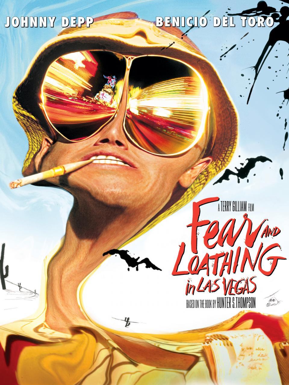 Fear and Loathing in Las Vegas (1998) - Directed by: Terry GilliamStarring: Johnny Depp, Benicio Del ToroRated: RRunning Time: 1h 58mTMM Score: 4 stars out of 5STRENGTHS: Originality, Acting, EffectsWEAKNESSES: Sound Mix