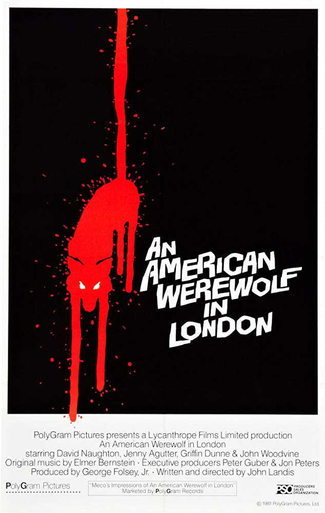 An American Werewolf in London (1981) - Directed by: John LandisStarring: David Naughton, Jenny Agutter, Griffin DunneRated: RRunning Time: 1 h 37 mTMM Score: 4 stars out of 5STRENGTHS: Visual Effects, Writing, AtmosphereWEAKNESSES: Weak Character Writing in One Major Scene
