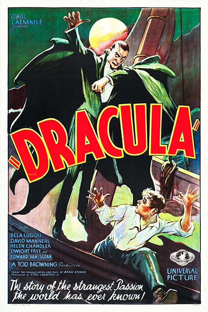Dracula (1931) - Directed by: Tod BrowningStarring: Bela Lugosi, Helen Chandler, David Manners, Dwight FryeRated: NR (Suggested PG for Some Scary Images)Running Time: 1 h 15 mTMM Score: 3 stars out of 5STRENGTHS: Old Hollywood Charm, Production Design, StoryWEAKNESSES: It's Kind of Boring, Lack of Soundtrack/Atmosphere, Acting