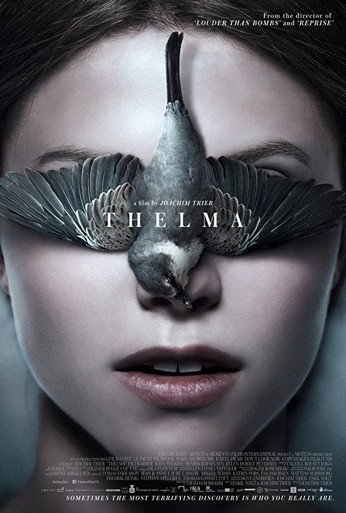 Thelma (2017) - Directed by: Joachim TrierStarring: Eili Harboe, Kaya Wilkins, Henrik Rafaelsen, Elle Dorrit PetersenRated: NR (Suggested R for Some Sexuality and Violence, and Disturbing Content)Running Time: 1 h 56 mTMM Score: 3 stars out of 5STRENGTHS: Cinematography, Writing, ActingWEAKNESSES: Pacing, Themes, Familiar Story