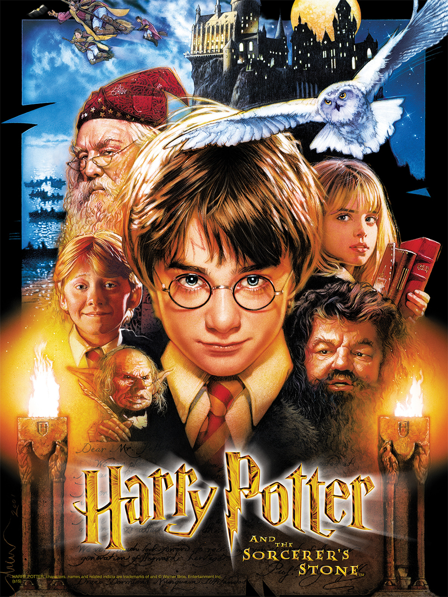Harry Potter and the Sorcerer's Stone (2001) - Directed by: Chris ColumbusStarring: Daniel Radcliffe, Rupert Grint, Emma Watson, Richard Harris, Maggie Smith, Robbie Coltrane, Fiona Shaw, Richard Griffiths, Warwick Davis, John Hurt, Mathew Lewis, Tom Felton, John Cleese, Alan Rickman, David BradleyRated: PG for Some Scary Moments and Mild LanguageRunning Time: 2 h 32 mTMM Score: 3 stars out of 5STRENGTHS: Story, Some Production Design, World BuildingWEAKNESSES: Some Production Design, Some Acting, Directing, Pacing