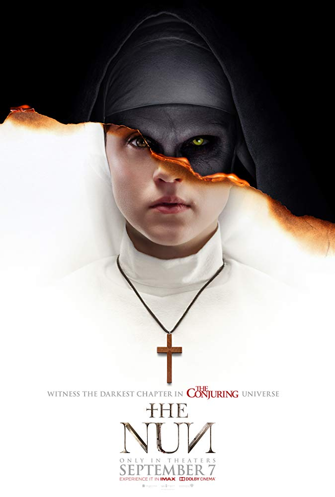 The Nun (2018) - Directed by: Corin HardyStarring: Taissa Farminga, Jonas Bloquet, Demian BichirRated: R for Terror, Violence, and Disturbing/Bloody ImagesRunning Time: 1 h 36 mTMM Score: 1.5 stars out of 5STRENGTHS: AestheticWEAKNESSES: Plot, Writing, Lack of Scares