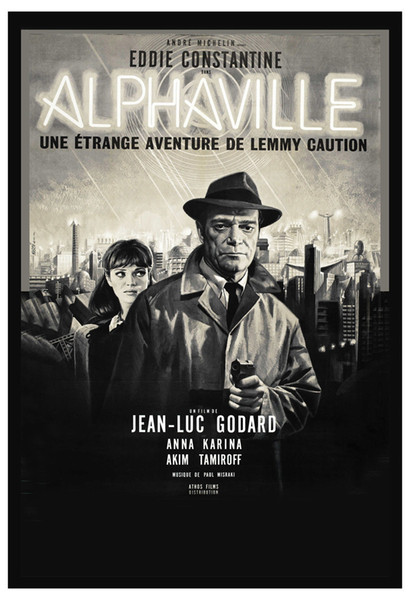 Alphaville (1965) - Directed by: Jean-Luc GodardStarring: Eddie Constantine, Anna Karina, Akim Tamiroff, Howard VernonRated: NRRunning Time: 1h 39mTMM Score: 2 out of 5STRENGTHS: ThemeWEAKNESSES: Direction, Editing, Budget