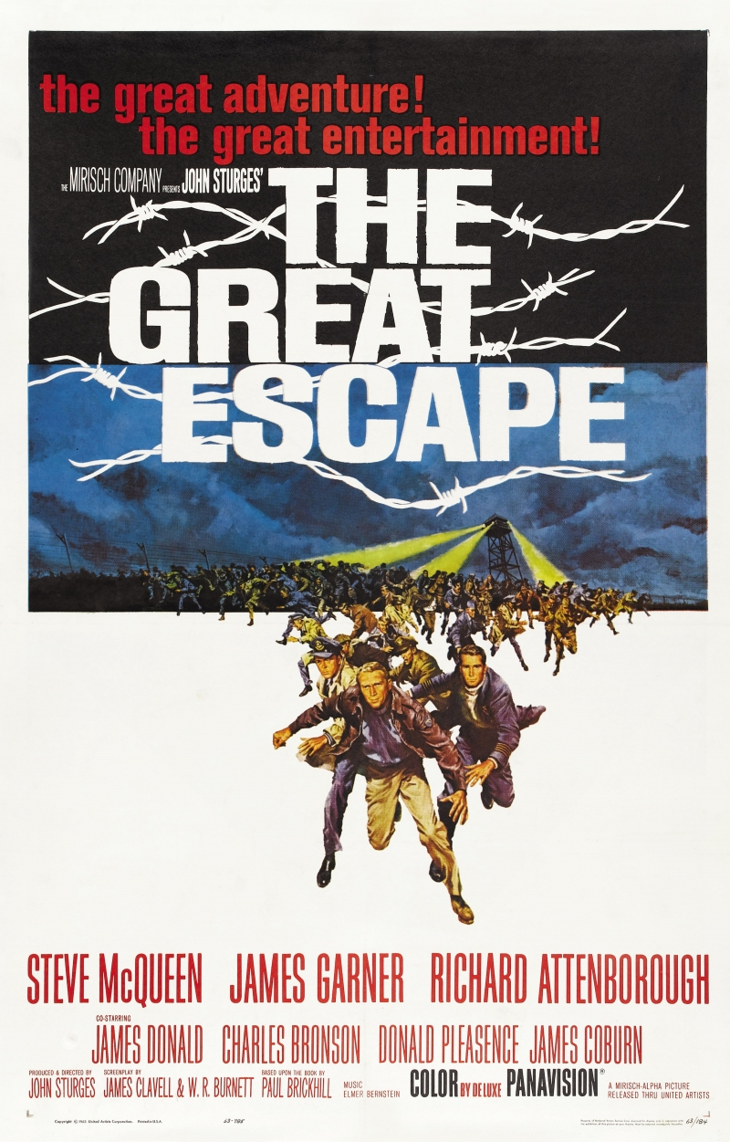 The Great Escape (1963) - Directed by: John SturgesStarring: Steve McQueen, James Garner, Richard Attenborough, Charles Bronson, Donald PleasenceRated: NR (Suggested PG-13 for Some War Violence)Running Time: 2 h 52 mTMM Score: 5 stars out of 5STRENGTHS: Characters, Writing, Directing, Story, ActingWEAKNESSES: -