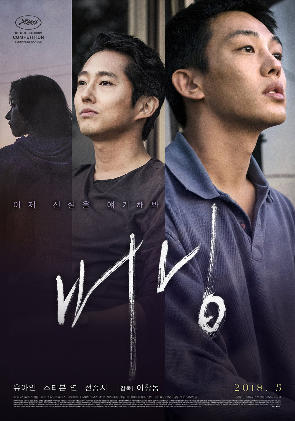 Burning (2018) - Directed by: Chang-dong LeeStarring: Ah-in Yoo, Steven Yeun, Jong-seo JunRated: NR (Suggested R for Some Sexuality and Nudity, and Brief Drug Use and Violence)Running Time: 2 h 28 mTMM Score: 5 stars out of 5STRENGTHS: Writing, Directing, Themes, AtmosphereWEAKNESSES: -