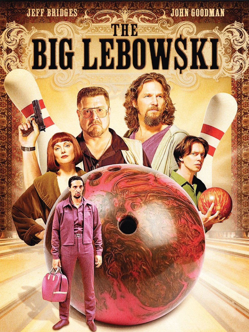 The Big Lebowski (1998) - Directed by: Joel Coen, Ethan CoenStarring: Jeff Bridges, John Goodman, Steve Buscemi, Julianne Moore, Philip Seymour Hoffman, Tara Reid, David Huddleston, Peter Stormare, Flea, John Turturro, David ThewlisRated: R for Pervasive Strong Language, Drug Content, Sexuality, and Brief ViolenceRunning Time: 1 h 57 mTMM Score: 5 stars out of 5STRENGTHS: This is a Perfect FilmWEAKNESSES: -