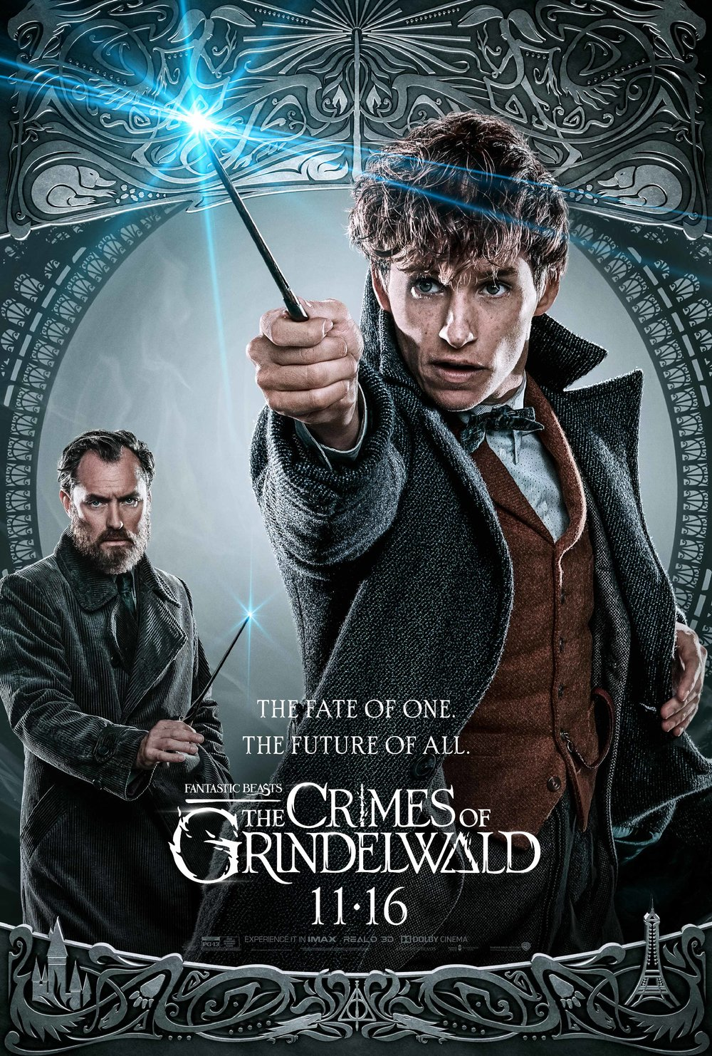 Fantastic Beasts: The Crimes of Grindelwald  (2018) - Directed by: David YatesStarring: Eddie Redmanyne, Johnny Depp, Zoe Krzvitz,Ezra Miller, Katherine Waterston, Dan Fogler, Jude LawRated: PG-13 for Some Sequences of Fantasy ActionRunning Time: 2 h 14 mTMM Score: 2.5 stars out of 5STRENGTHS: Production Design, Special Effects, Some ActingWEAKNESSES: Jumbled Story, Fan Service Over Substance