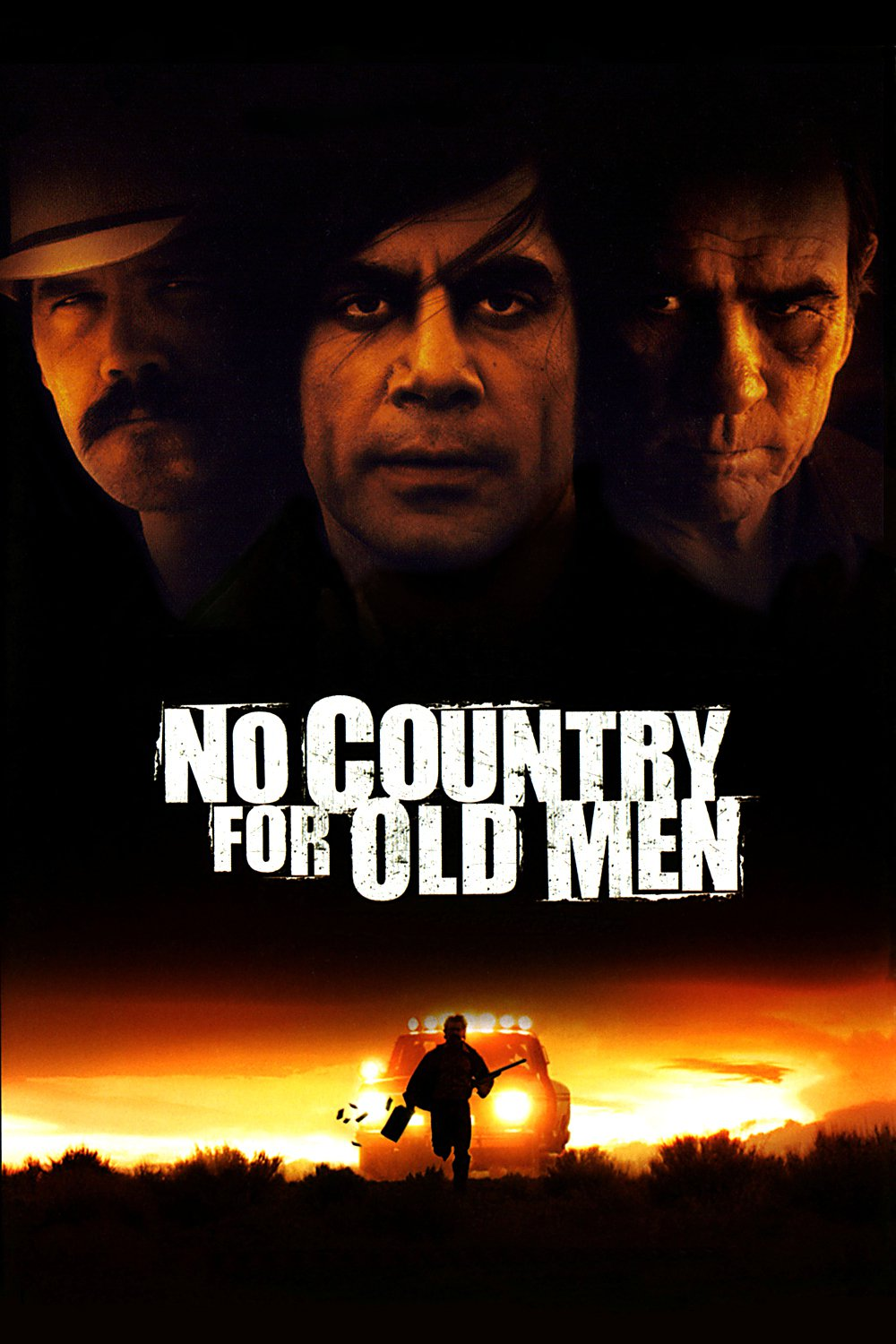 No Country for Old Men (2007) - Directed by: Ethan Coen, Joel CoenStarring:Tommy Lee Jones, Javier Bardem, Josh Brolin, Kelly Macdonald, Woody HarrelsonRated: R for Strong Graphic Violence and Some LanguageRunning Time: 2 h 3 mTMM Score: 5 stars out of 5STRENGTHS: Writing, Directing, Acting, CinematographyWEAKNESSES: -