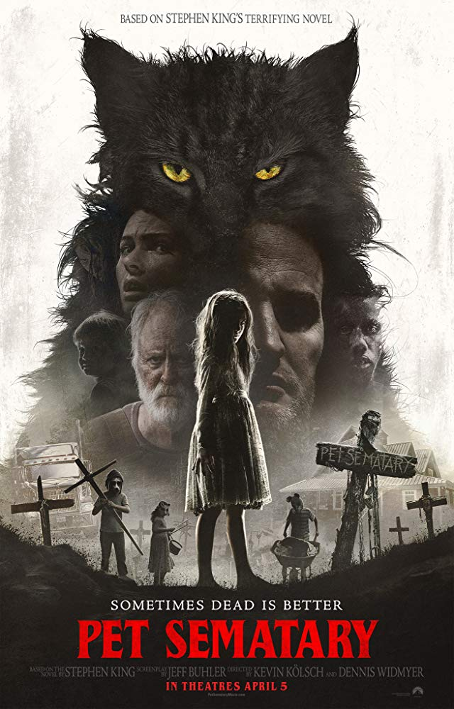 Pet Sematary (2019) - Directed by: Kevin Kolsch, Dennis WidmyerStarring: Jason Clarke, Amy Seimetz, John Lithgow, Jete Laurence, Obssa AhmedRated: RRunning Time: 1 h 41 mTMM Score: 1.5 stars out of 5STRENGTHS: Some ActingWEAKNESSES: Pacing, Tone, Writing, Production Design, Mishandling of Story