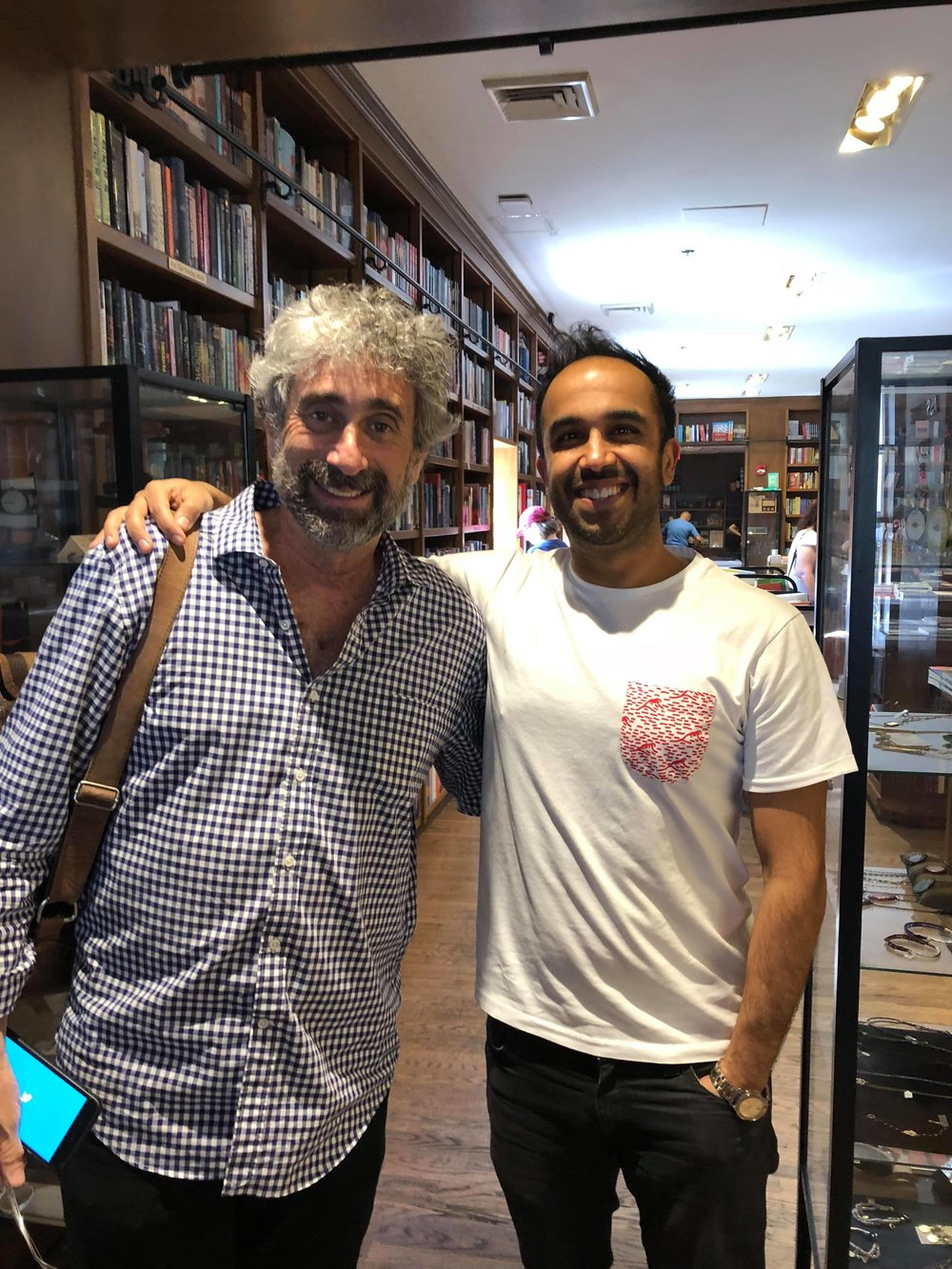 Me and Mitchell inside his bookstore