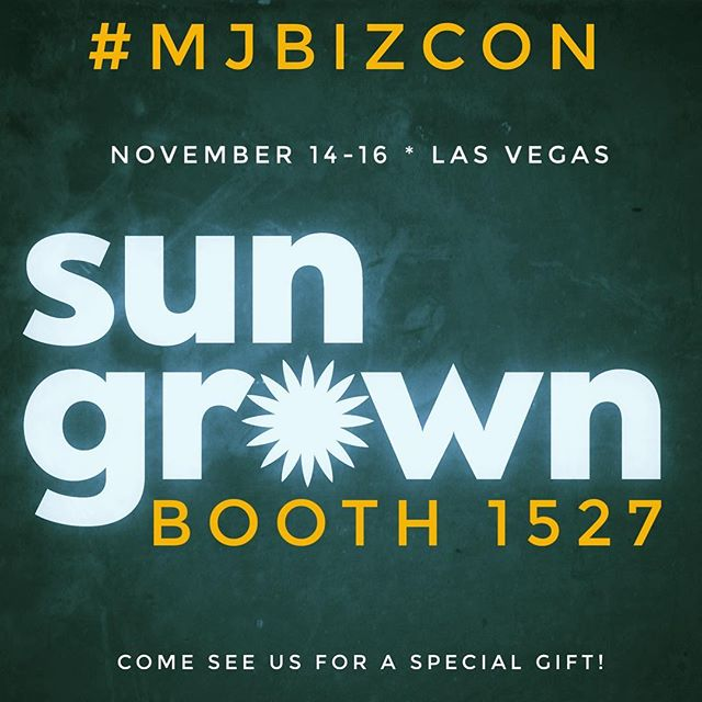 Headed to #mjbizcon in Las Vegas? Come see us in booth 1527 November 14-16. We have something for you!