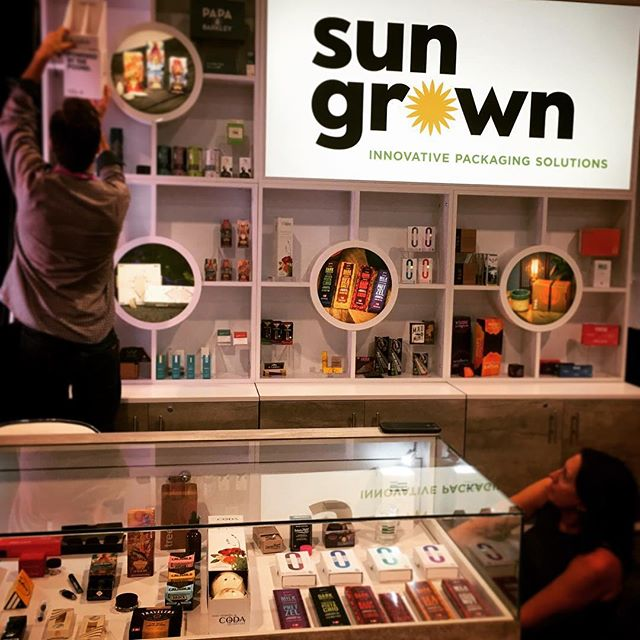 Final touches on Booth 1527! Ready for #MJBIZCON! Come by tomorrow for a sweet surprise!