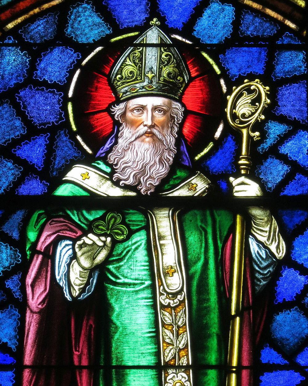 Saint_Patrick_Catholic_Church_(Junction_City,_Ohio)_-_stained_glass,_Saint_Patrick_-_detail.jpg
