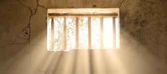 light shining thru bars blog