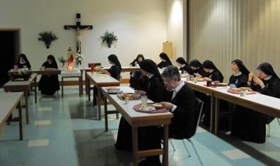 NunsRefectoryPalmSundayblog