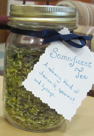 Somnificent Tea - the Sisters created this catchy title!