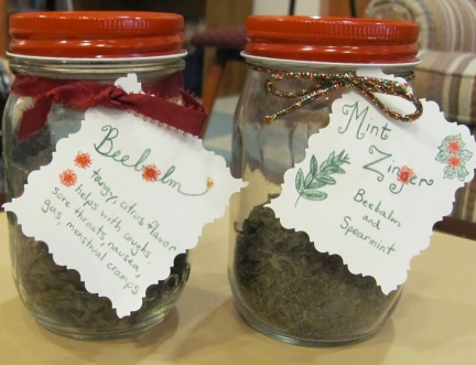 Beebalm and Mint Zinger Teas