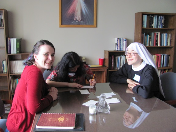 A rousing game of monastery pictionary