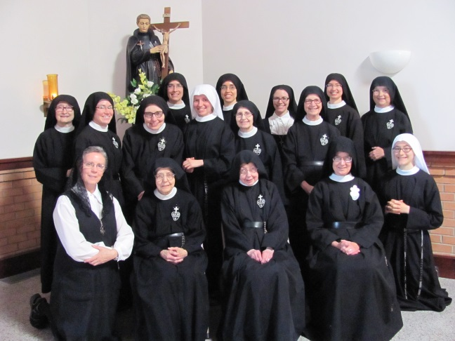 Our monastic community minus Sr. Mary Dolores.