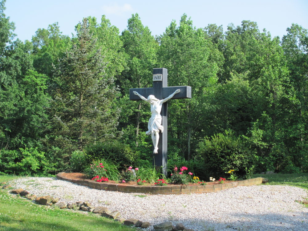 Crucifix Garden at Entrance