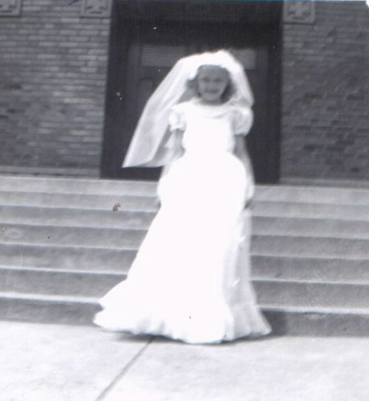 "Kay as ""the bride"""