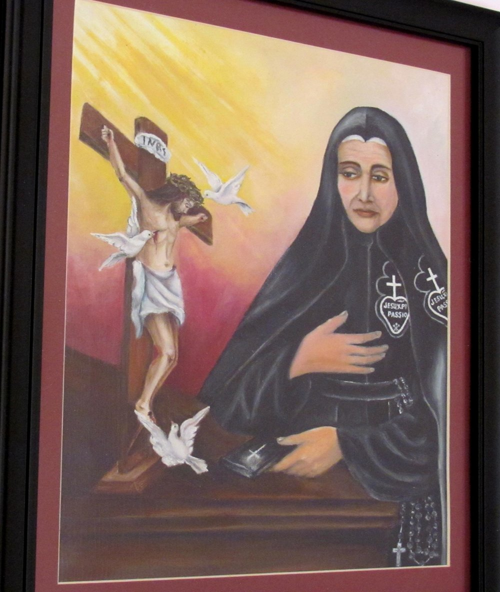 Painting of M. Mary Crucified by our Sr. Mary Therese, CP