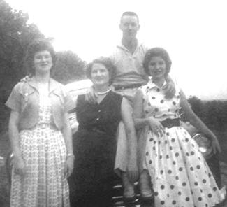 Vickie on the right, with her family