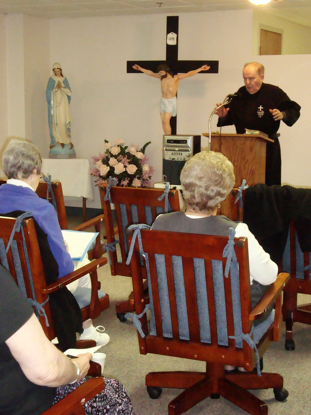 Oblates take part in an annual retreat at our monastery.