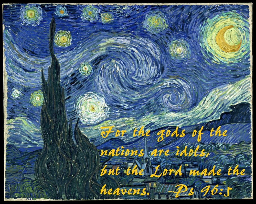 Starry Night  by Vincent van Gogh (common domain)