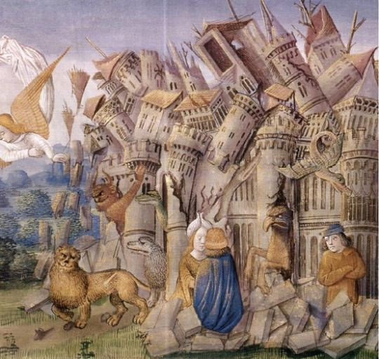The Fall of Babylon   Medieval [Public domain], via Wikimedia Commons