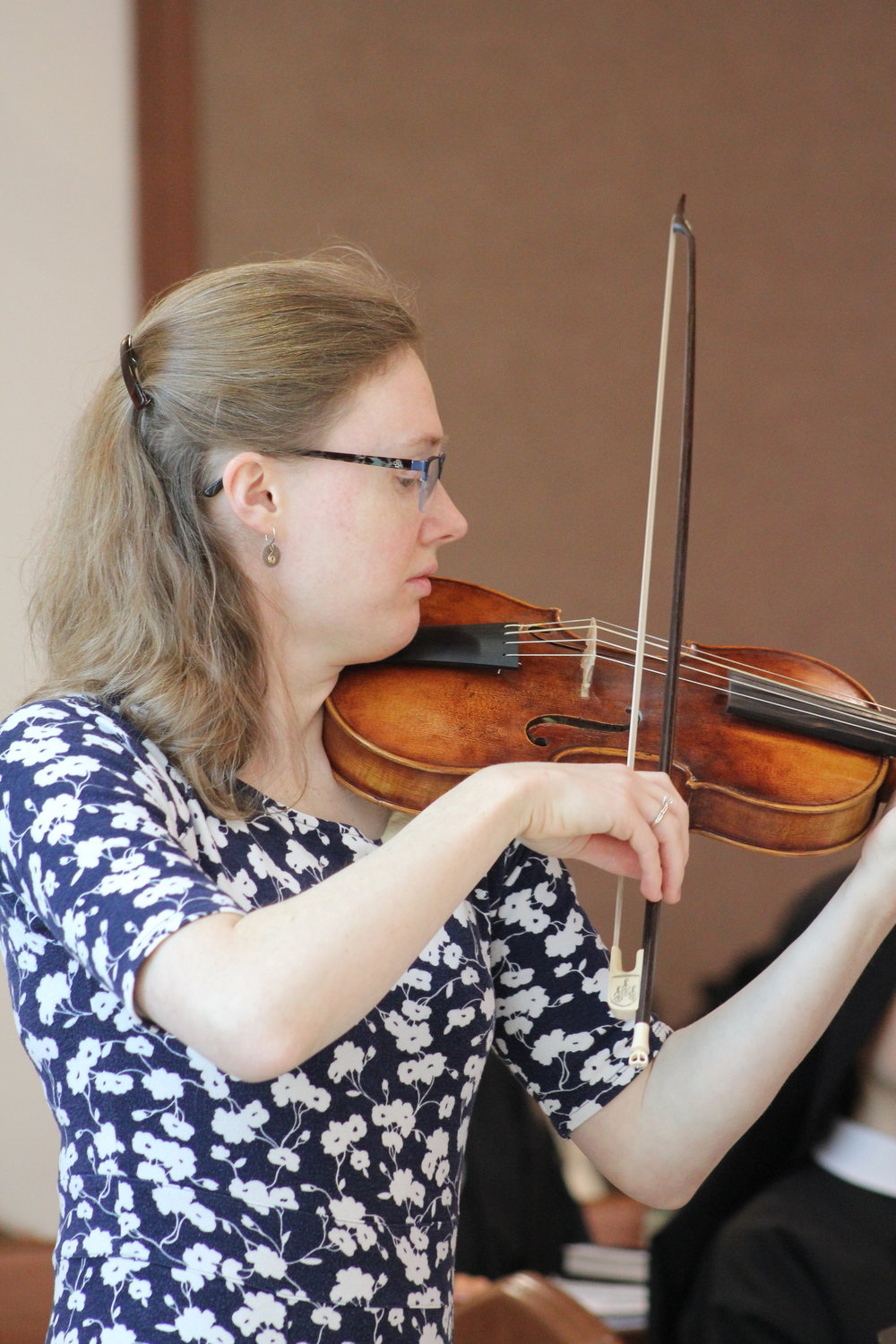 Christine Wilkinson Beckman (St. Olaf College classmate of Sr. Cecilia Maria) treated us to beautiful Baroque violin preludes.
