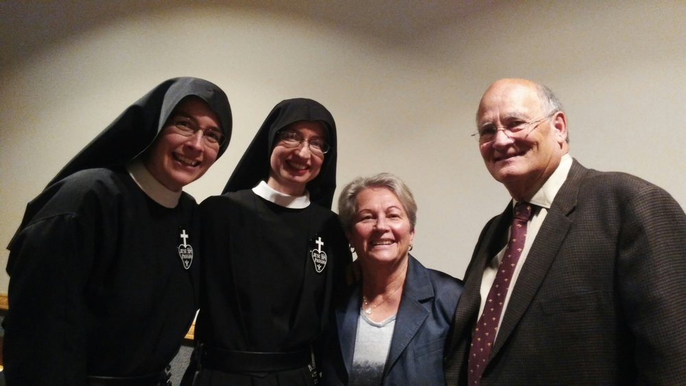 Mother John Mary and Sr. Cecilia Maria with Sandra & Ron Bickers, friends of the community who trekked out from Texas for Sister's profession!