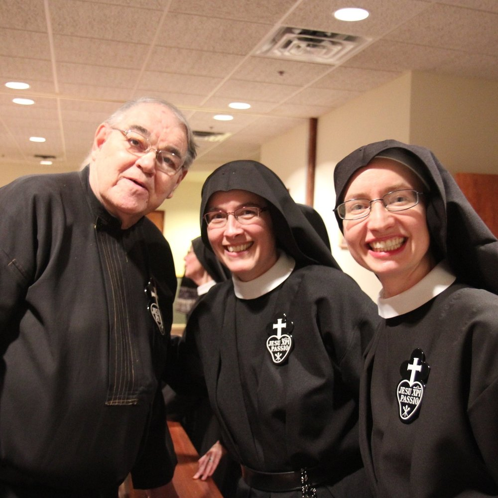 Br. John Monzyk, CP with Mother John Mary and Sr. Cecilia Maria