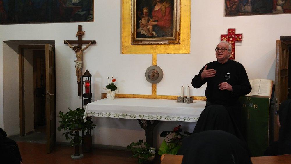 P. Carlo, CP, Novice Master at the Retreat of the Presentation on Monte Argentario.