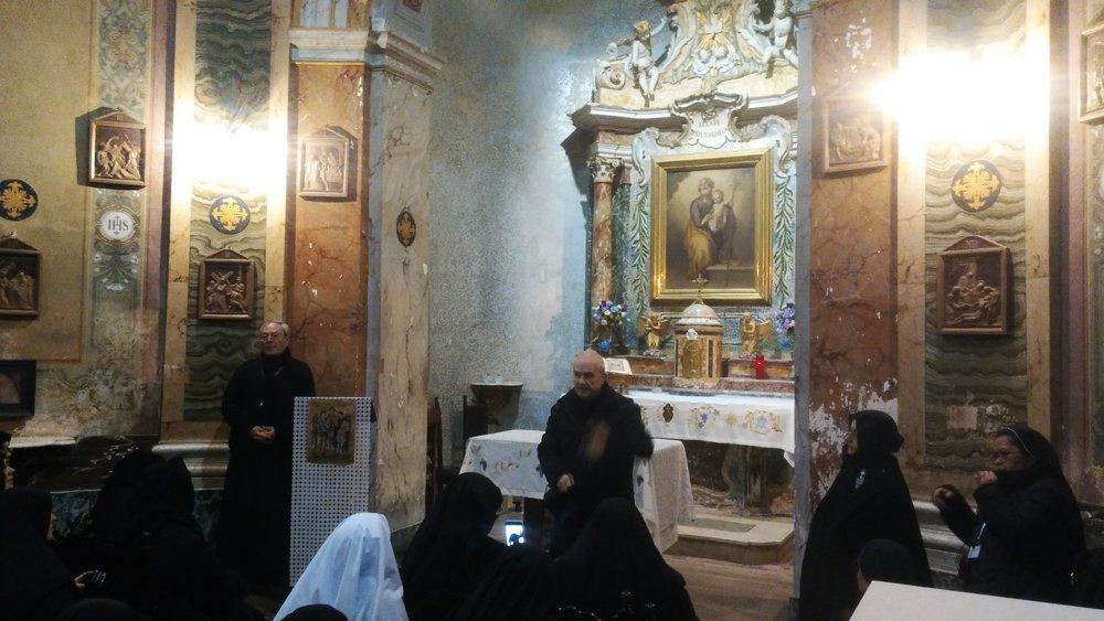 P. Floriano di Fabiis in the Chapel at St. Joseph Retreat.
