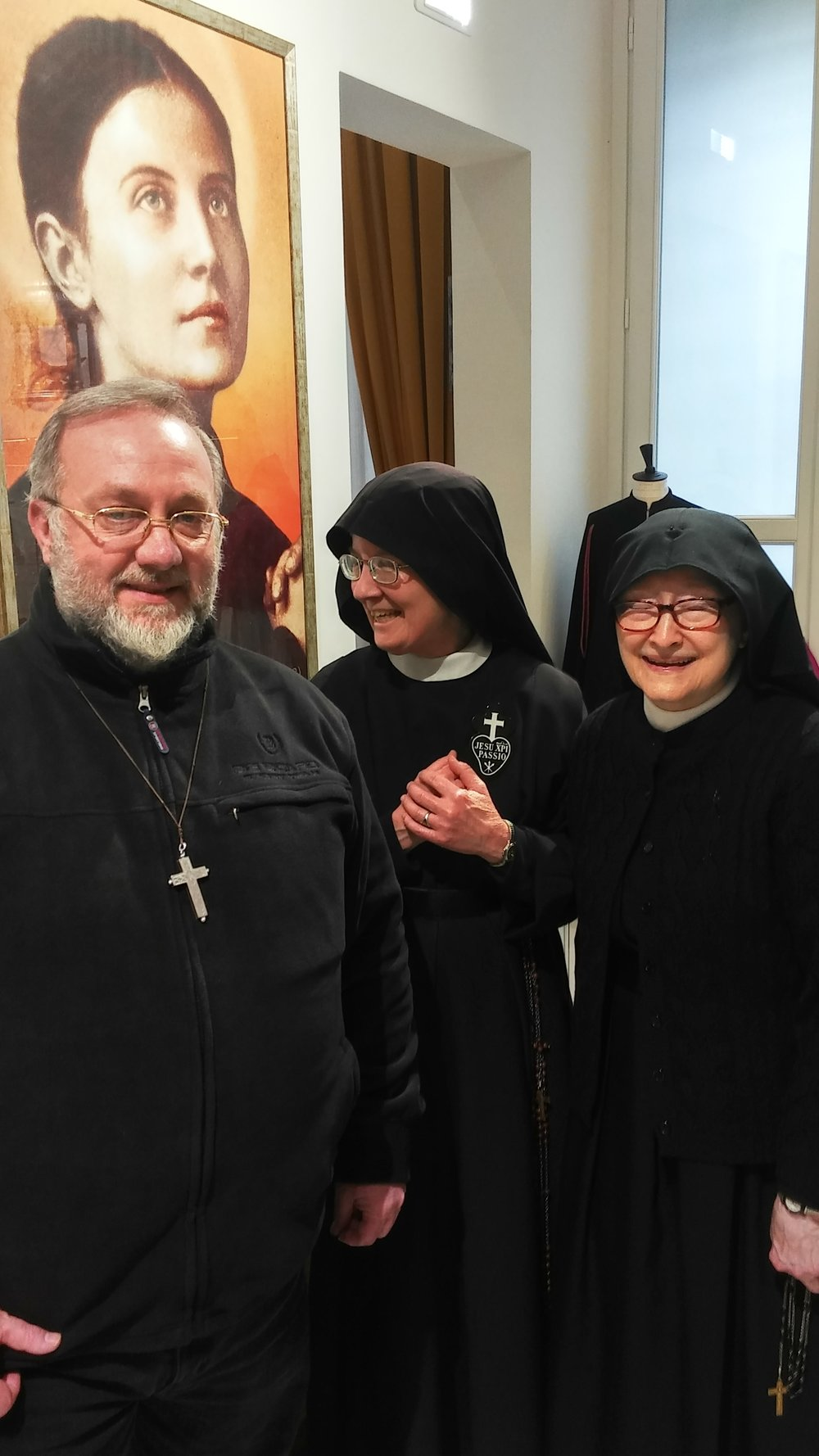 Fr. Giovanni Zubiani, Sr. Mary Veronica, and Mother Catherine Marie back in Lucca, Italy after the General Chapter's conclusion.
