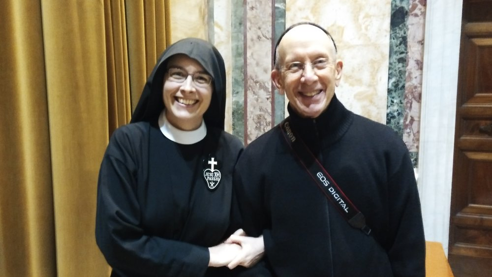 Mother John Mary with Fr. Lawrence Rywalt, CP